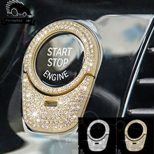 Автомобиль Стиль одной кнопкой бриллиантами декоративное покрытие отделкой наклейка Замочная скважина круг блесток аксессуары для интерьера для BMW 5 серии 2018 530
