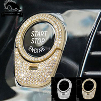 Car Style One Button diamonds Decorative Cover Trim Decal Keyhole Circle Sequin Interior Accessories For BMW 5series 2018 530|Interior Mouldings| |  -