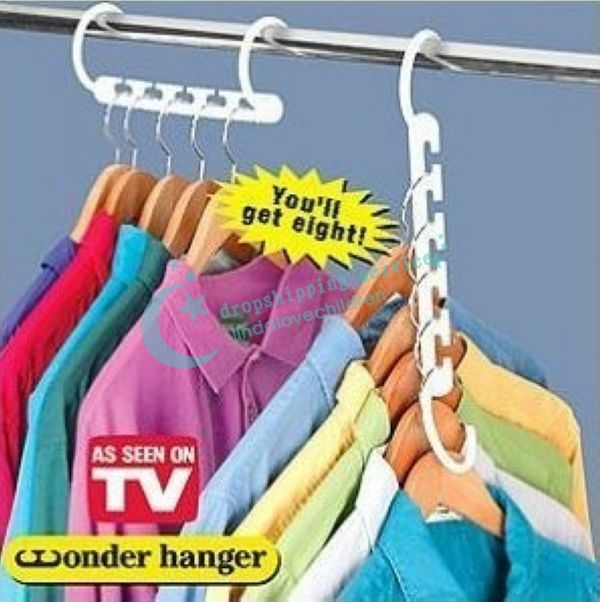 Multifunctional E Saver Wonder Magic Clothes Hanger Closet Organizer Hook Drop Shipping Free