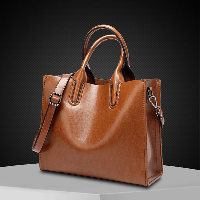 2017 Fashion Women Handbag High Quality Leather Large Lady Tote Bag Black Pink Brown Female Shoulder For Ping Work In Bags From Luggage