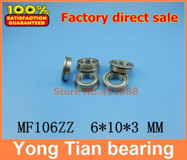 50pcs Free Shipping Boutique flange ball bearings MF106ZZ / LF1060ZZ size 6*10*11.2*3*0.6 mm free shipping 10 pcs mf74zz flanged bearings 4x7x2 5 mm flange ball bearings lf 740zz