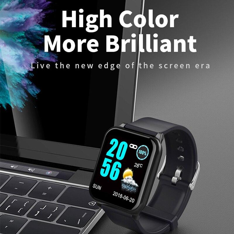 Brillante banda intelligente in arrivo chiamata di promemoria intelligente wristband Braccialetto intelligente di Monitoraggio della pressione arteriosa con ECG PPG orologio Sportivo