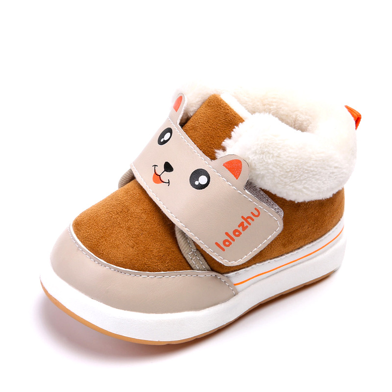 Kalupao 2018 New Winter Baby Shoes Girls Boys Warmers Soft PU Leather Shoes Newborn Baby First Walker Shoes Kids Toddler Shoes