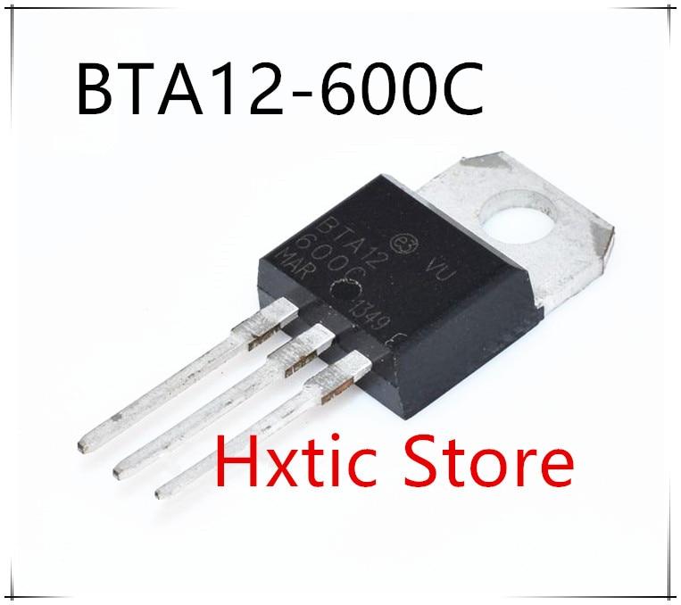 10pcs/lot BTA12-600C BTA12-600 BTA12 Triacs 12 Amp 600 Volt TO-220 New Original In Stock