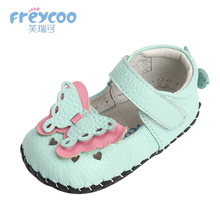 hot deal buy freycoo 2018 new spring kids girls shoes baby toddler prewalker girls walking shoes genuine leather 1197