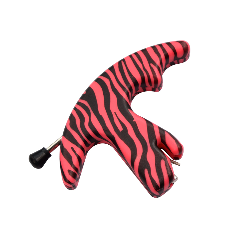 Atirar ao ar Peça Rosa Camo Lançamento Aids Polegar Estilo Esquerda Mão Direita Arco Flecha Caça Livre Indoor Frete Grátis 1