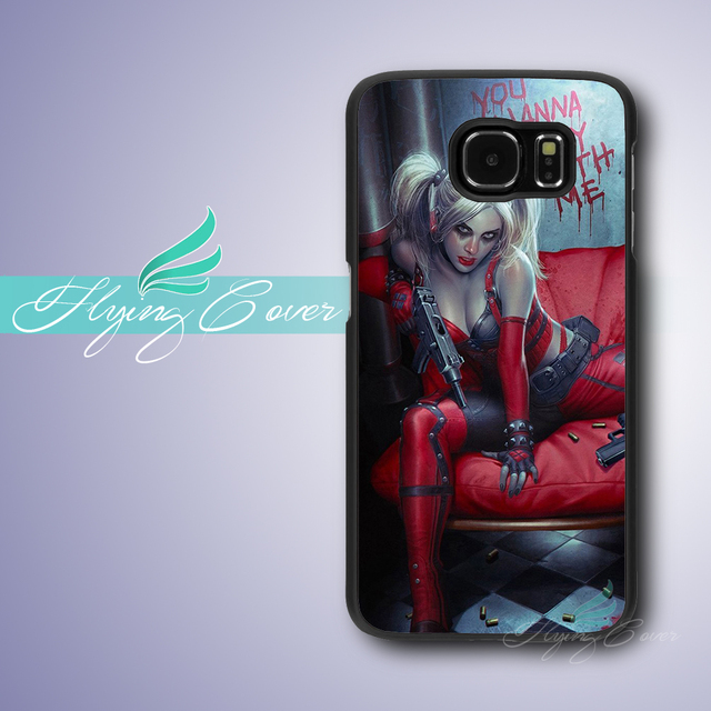 Coque Sexy Harley Quinn Comic Cases for Samsung Galaxy S8 Plus S3 S4 S5 S6  S7 Edge Plus Case for Samsung Galaxy Note 8 5 4 Cover cc0345412b57