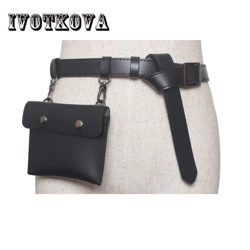 IVOTKOVA 2018 Fashion Women Waist Bags Pu Leather Lady Bags Young Girl Belt Packs New Arrival Female Waist Bag Drop Shipping