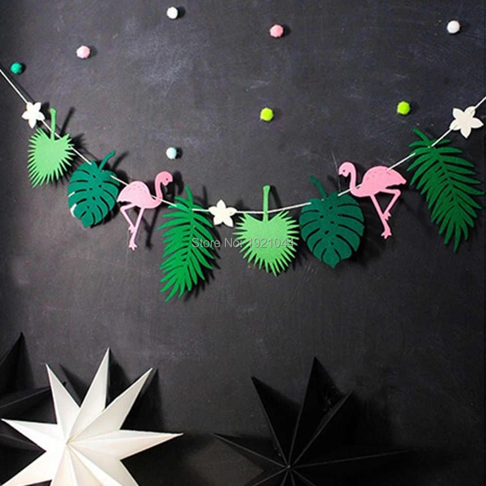 フラミンゴ葉バナーパイナップル雨林バナー誕生日パーティーの Diy の装飾の結婚式のパーティー用品