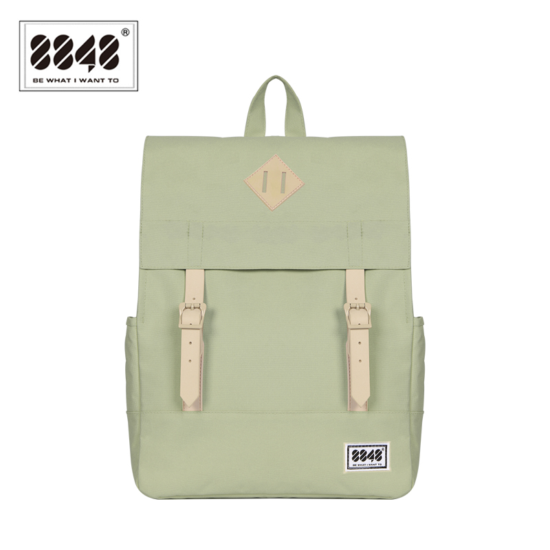 8848 Women Backpack  School Backpacks 15.6 Inch Laptop 14.2 L Waterproof Backpack Soft back Preppy Style Backpack bag173-002-004