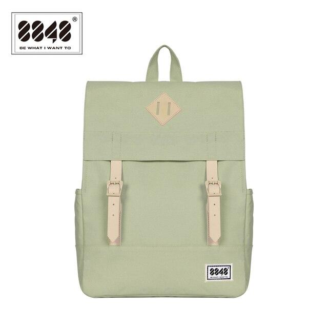 8848 Women Backpack  School Backpacks 15.6 Inch Laptop 14.2 L Waterproof Backpack Soft back Preppy Style Backpack bag173-002-004