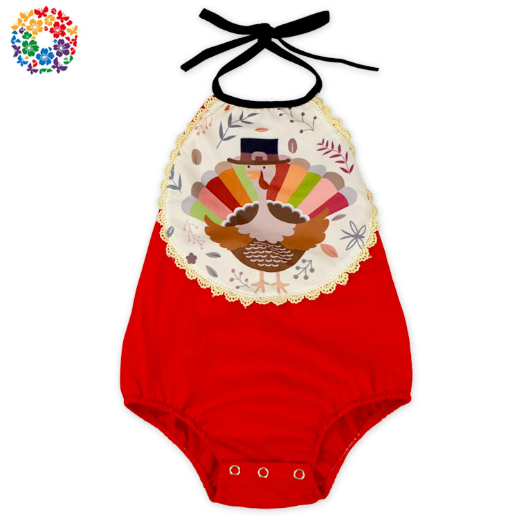 Toddler Baby Thanksgiving Turkey Design Romper Western