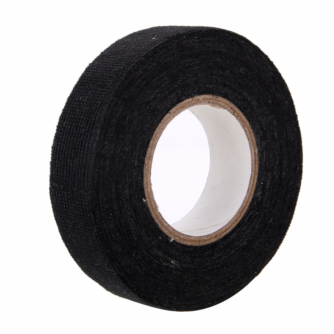 Wiring Loom Harness Adhesive Cloth Fabric Tape 1pc Strong For Looms Cars 19mm X 15m