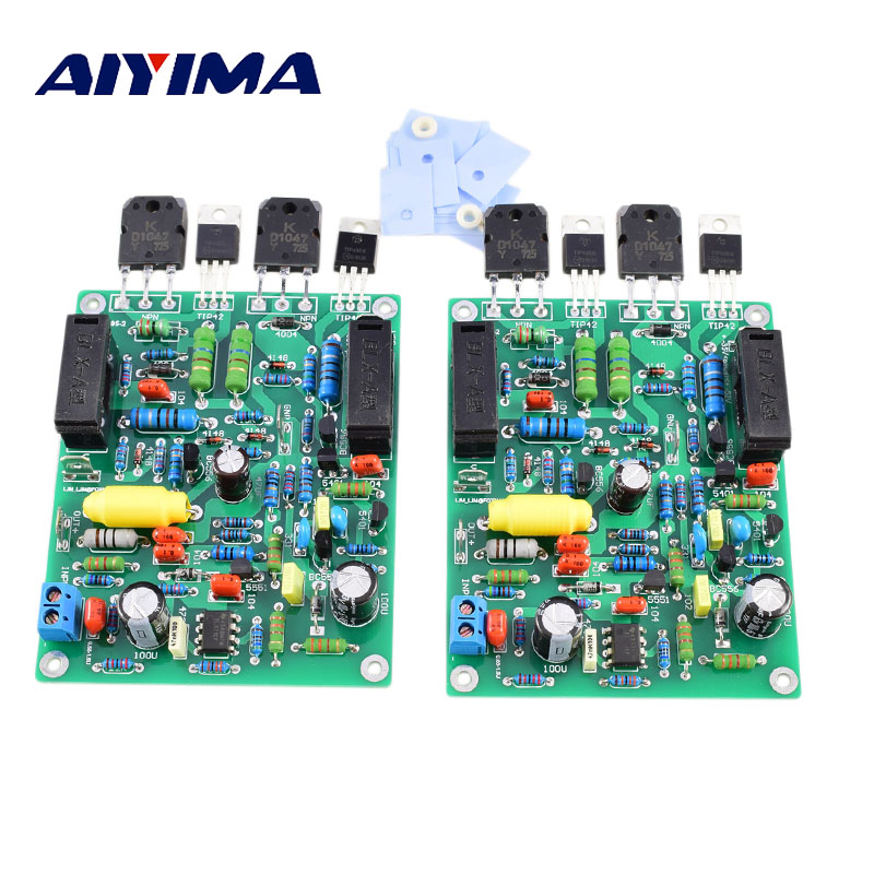 цена на Aiyima 2PC Audio Amplifier Board 100W*2 Stereo Dual Channels QUAD405-2 Amplifier Finished Board