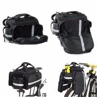 Spain Fast Shipping Black Color High Quality Cycling Bicycle Bag Bike Rear Seat Trunk Bag Bike