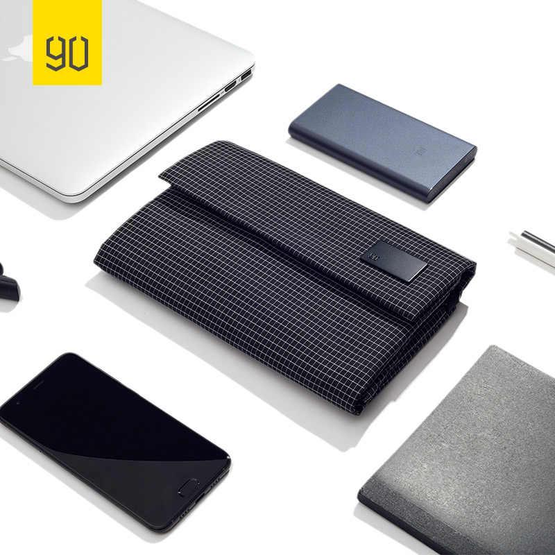 Ninetygo 90fun saco de armazenamento digital à prova dbig água grande capacidade usb disco do telefone móvel negócios casual viagem faculdade