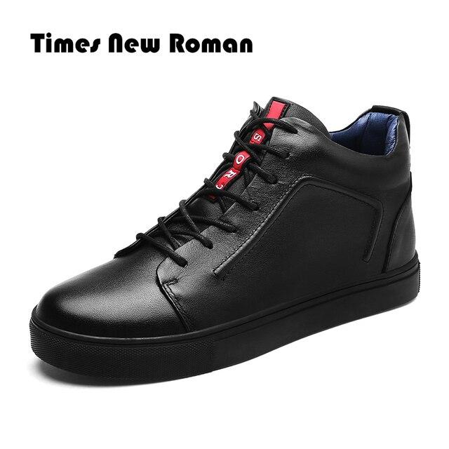 ครั้งใหม่โรมันยี่ห้อ Hot Warm Warm ฤดูหนาวรองเท้าหนังแท้คุณภาพสูงสวมใส่สบายๆรองเท้าทำงานแฟชั่นผู้ชายรองเท้า