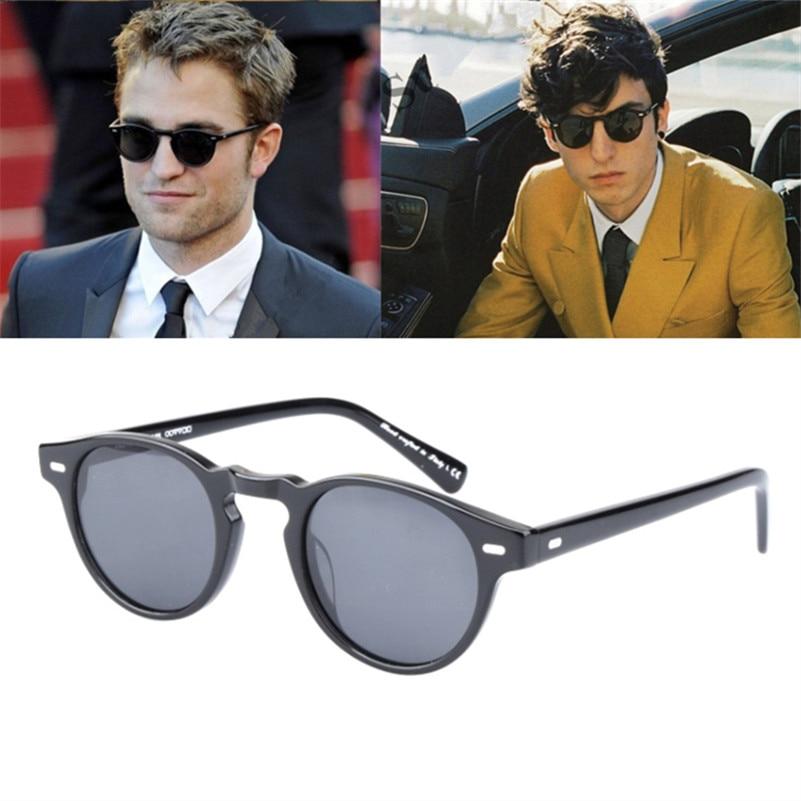 Retro Round Polarized Sunglasses men Sun glasses ov5186 Brand Design Eyeglasses Eyewear gafas de sol mujer|Men
