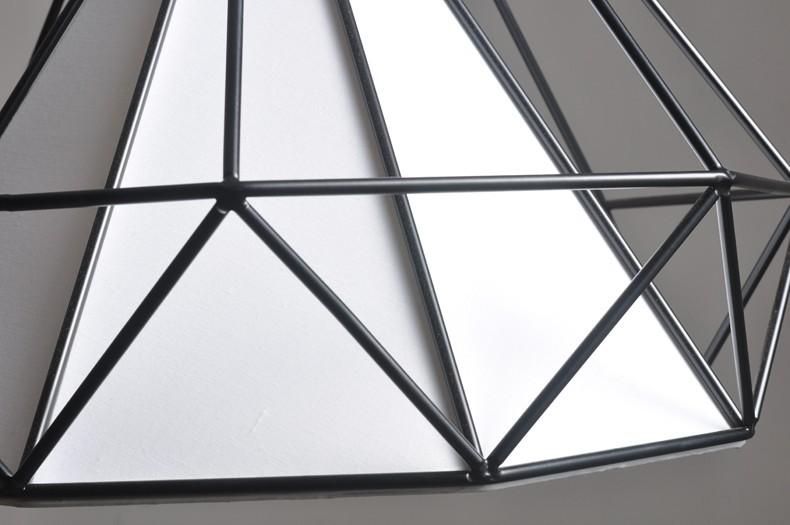 birdcage chandeliers Scandinavian modern minimalist art pyramid iron chandelier creative restaurant lights (20)