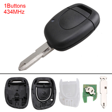 433MHz 1 Button Portable Keyless Uncut Flip Remote Key Fob NE72 Blade PCF7946 Chip for Renault Master Kangoo Clio Twingo