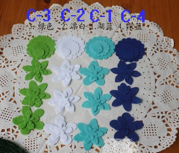 Felt Flower Scrapbook Fabric Scrapbooking Kit Craft Work Kids Toys