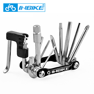 10 in 1 Multifunctional Bike Repair Tools Folding Safety Knife Military Knife Bike Chain Cutter +Wrench Bicycle Accessories 0463
