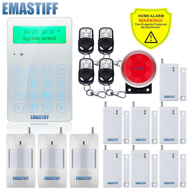 Najnowszy Mini komunikatu głosowego 433mhz bezprzewodowy klawiatura GSM system alarmowy aplikacja na Android i iOS sterowania z funkcja przeciwwstrząsowa przewodowy syreny