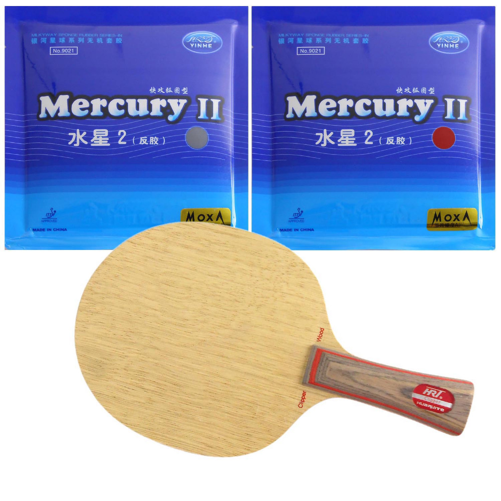 Pro Table Tennis Ping Pong Combo Racket HRT 2091 + 2Pcs Galaxy YINHE Mercury II    Long  Shakehand  FL galaxy yinhe t8s table tennis blade with 2x mercury ii rubber with sponge for a ping pong racket best control indoor sports