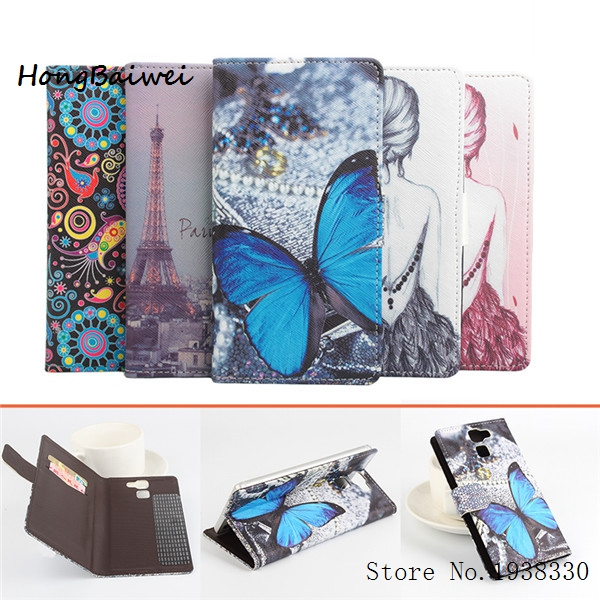 Hongbaiwei 5 Painted Styles Umi Hammer S Case Luxury Flip Left and Right Leather Case for Umi Hammer S Flip Cover With Card Hold