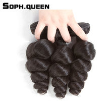 Soph queen Malaysian 3 Bundles Virgin Hair Loove Wave Natural Color Human Hair Extension Unprocessed