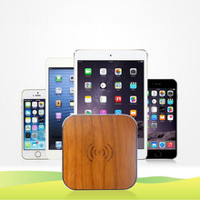 Bamboo Wooden wireless phone charger QI Wireless Charger Pad for Samsung Galaxy S6 S6 Edge Note