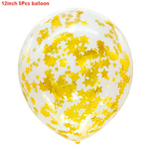Balloons Gold Star Confetti Transparent Balloons Party Decorations 5pcs