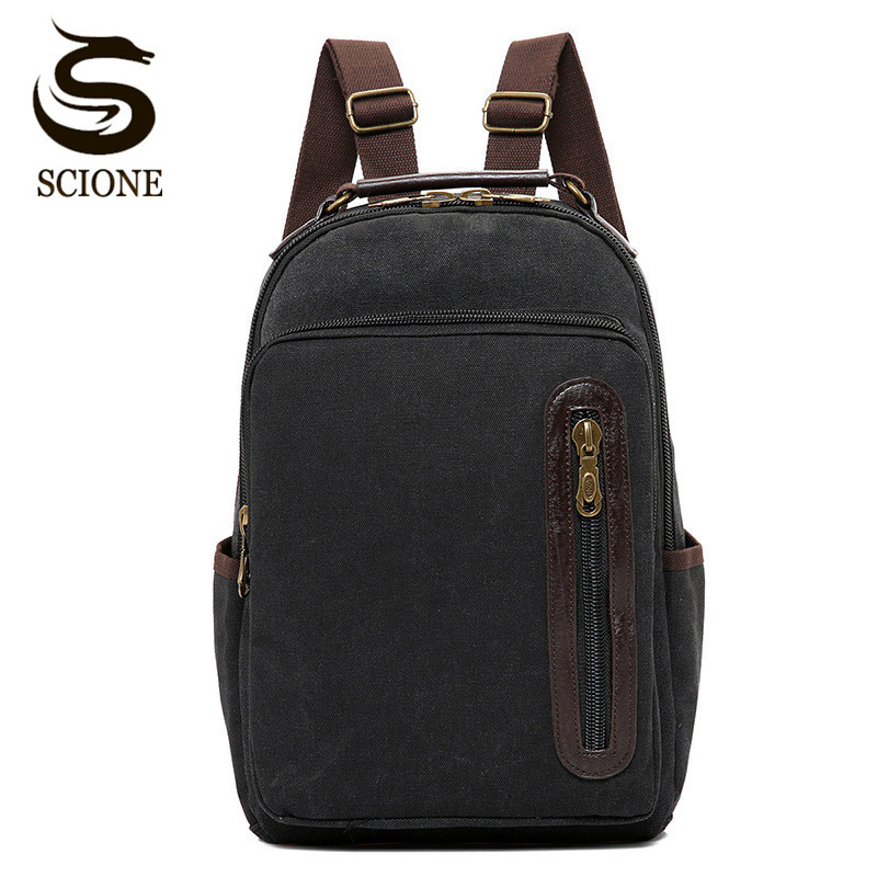 Scione Vintage Canvas Backpack Casual Men Double Shoulder Bag Male Travel Backpack Women Teenagers Schoolbag Mochila Rucksack bolsos canvas backpack 2017 neutral women men travel rucksack school shoulder bag for teenagers mochila feminina dropshipping