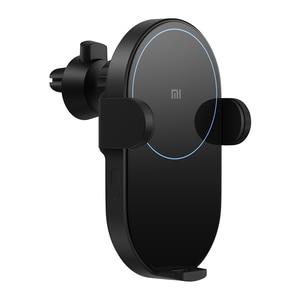 Image 2 - Original Xiaomi Wireless Car ChargerอัจฉริยะอินฟราเรดSensor Qi Fast Charging Miโทรศัพท์ผู้ถือWCJ02ZM 20วัตต์สูงสุดสำหรับiPhone