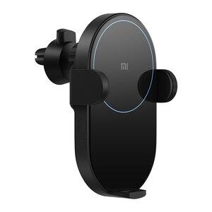 Image 2 - Оригинальное беспроводное автомобильное зарядное устройство Xiaomi с интеллектуальным инфракрасным датчиком, Быстрая Зарядка Qi, автомобильный держатель для телефона Mi WCJ02ZM 20 Вт Max для iPhone