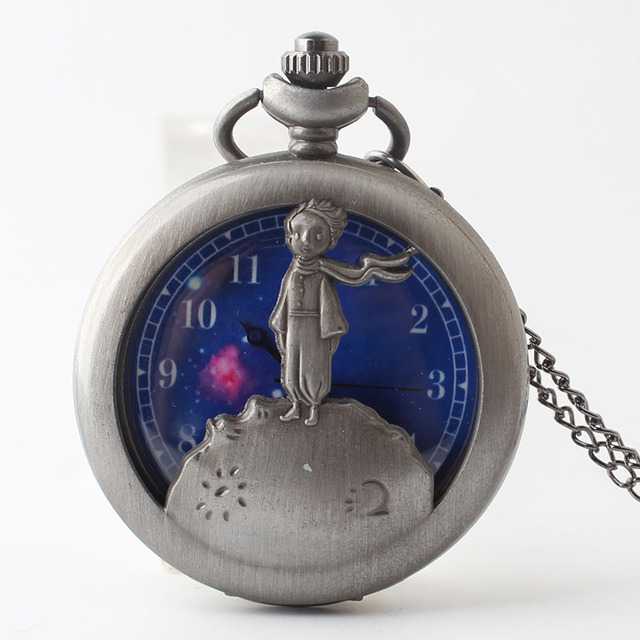 New figure European American fashion hollow carved little prince Pocket Watch Me