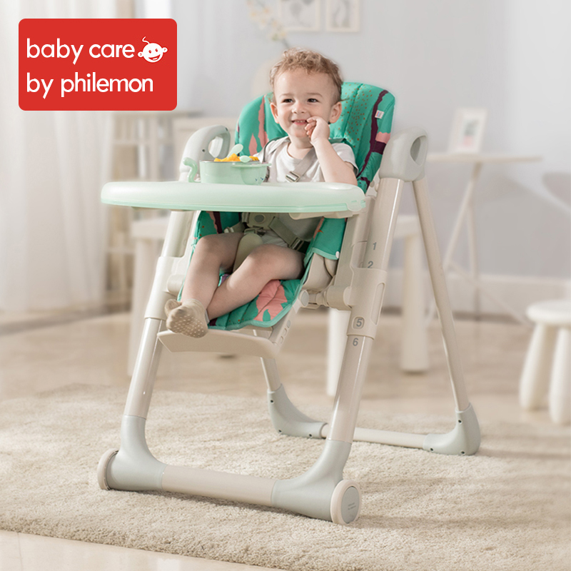 BabyCare Portable Folding Baby seat chair Highchair Adjustable Five point seat belts infant children dining feeding table Chair