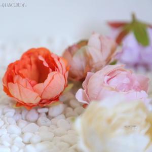 Image 2 - 2 pieces DIY Retro silk Artificial flowers European Peony bud flower heads for Wedding Garland D25