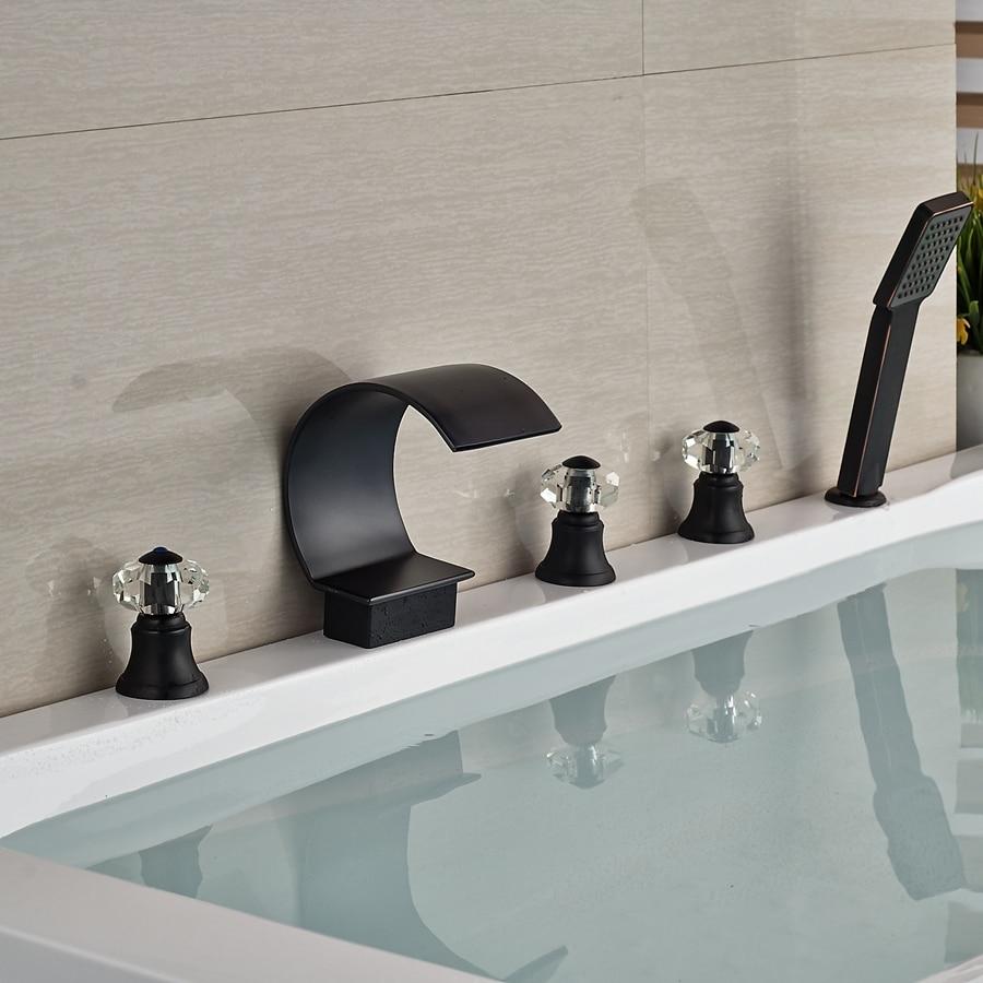 tub lightinthebox contemporary chrome waterfall bath mount plumbing sink mixer bathroom taps bathtub deck dp fixtures faucet handle single and widespread faucets