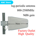 800-2500Mhz 9dBI 2g3g outdoor Log-periodic antenna LPDA mobile phone external antenna for Cell Phone Booster/Repeater/Amplifier