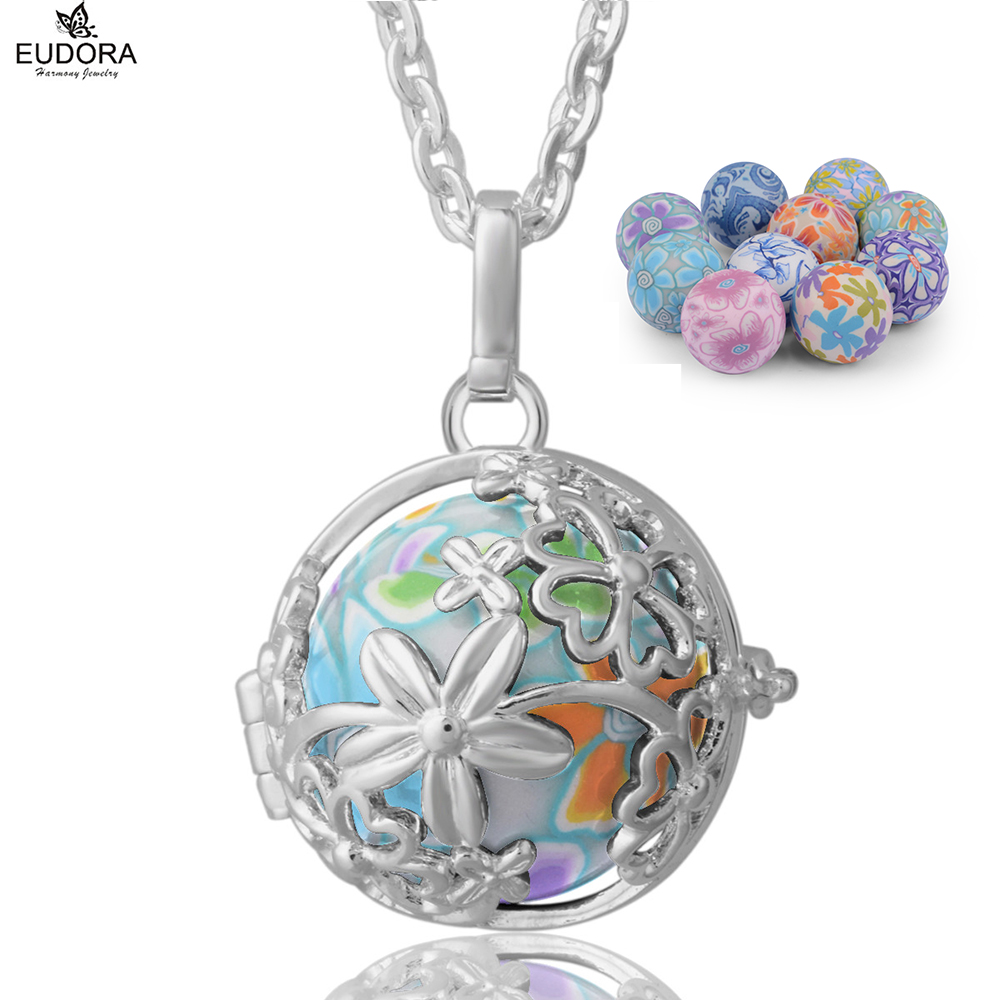Copper floral eudora harmony ball pendant necklacejewelry fit copper floral eudora harmony ball pendant necklacejewelry fit colorful special printing musical chime bola for pregnant women in pendants from jewelry aloadofball Image collections