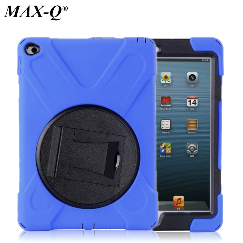 MAX-Q 3 in 1 Hybrid Rubber Rugged Combo Matte Shockproof Duty silicon Case with Stand For iPad 6 cover for Apple ipad air 2