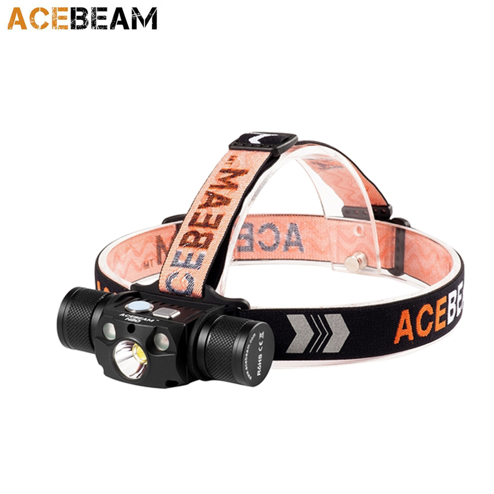 ACEBEAM H30 USB rechargeable headlamp CREE XHP70 2 XPE2 R2 G3 R G LEDs max 4000
