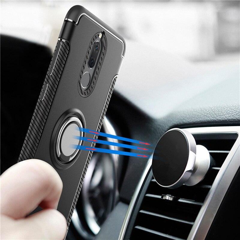 Автомобиль магнитное кольцо чехол для Huawei Mate 10 20 Pro P8 P9 Lite 2017 P10 плюс P20 P30 P Smart 2019 Nova 3 3i 4 Honor 8X Броня обложка