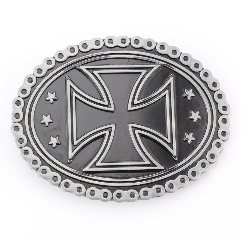 The Cross Design Simple Belt Buckle Belt Accessories Decorative Buckle