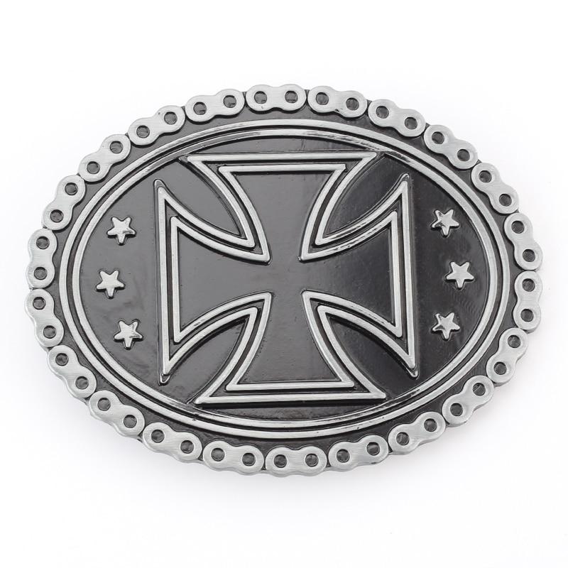 The Cross Design Simple Belt Buckle Belt Accessories Decorative Buckle