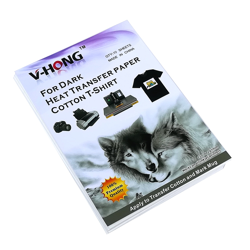"A4 Size Inkjet Printer T-shirt Dark Cotton Textiles Transfer Sublimation Transfer Paper""V-HONG"""
