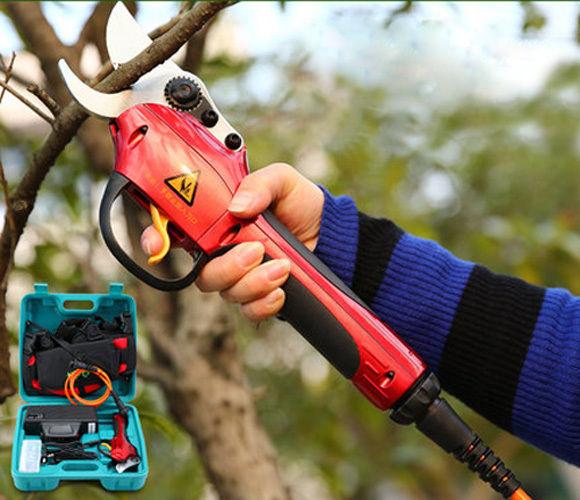 איכות גבוהה 220 V נטענת חשמלי גינה בגיזום קאטר מספריים כלים מספריים עץ פרי