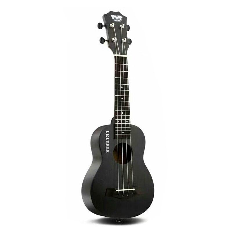 21/23 pouces Soprano Ukulele Noir Hawaiian Mini Guitare Touche Palissandre 4 cordes Acajou Ukulélé gros OEM Musique Uku