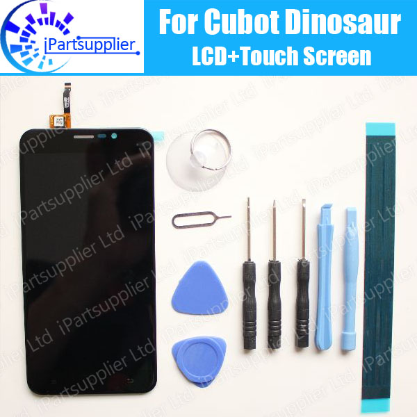 Cubot Dinosaur LCD Display+Touch Screen 100% Original LCD Digitizer Glass Panel Replacement For Cubot  Dinosaur +tools+adhesive 100% original for lenovo p780 lcd display touch screen digitizer assembly replacement warranty tempered glass adhesive tools